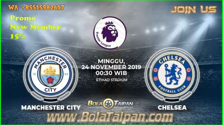 Prediksi English Premier league Manchester City vs Chelsea