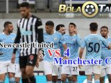 Hasil Pertandingan Newcastle United vs Manchester City: Skor 3-4